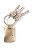 Keys with metal tag Royalty Free Stock Photos