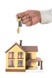 Keys at miniature house Stock Image