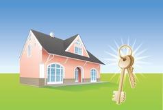 Keys, new home, realty. Vector. House keys, real estate. Vector illustration Stock Images
