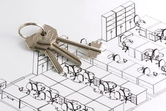 Keys of the new office Royalty Free Stock Images