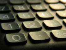 Keys and Numbers. Close up of numbers and keys on a calculator Stock Images