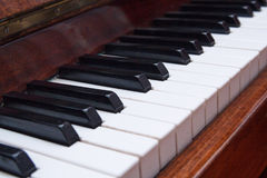 Keys of an old piano closeup Royalty Free Stock Photography