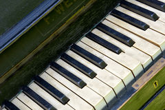 Keys old piano Royalty Free Stock Photos