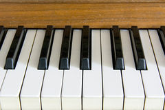 The keys of the old piano Royalty Free Stock Images