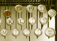 Keys on an old typewriter Stock Images