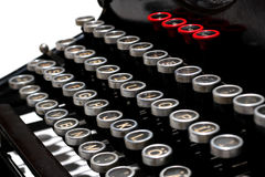 Keys of old typewriter Stock Photo