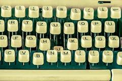 Keys Of Old Typewriter Royalty Free Stock Photos