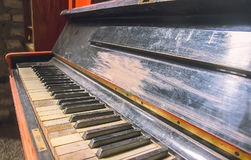 Keys of the old vintage piano Royalty Free Stock Photo