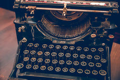 Keys of an old vintage typewriter Stock Image