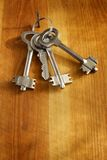 Keys On A Wooden Wall Stock Images