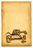 Keys On On Paper Royalty Free Stock Photos