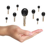 Keys over hand Royalty Free Stock Photos