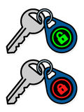 Keys with padlock symbol on tags Royalty Free Stock Photography