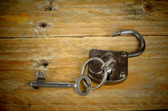 Keys and padlock Stock Photography