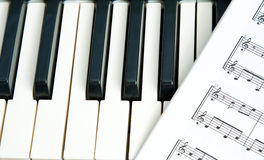 Keys of a piano Royalty Free Stock Photo