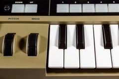 Keys piano synthesizer Royalty Free Stock Photo