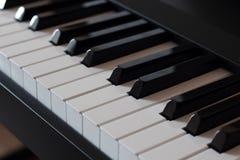 The keys of a pianoforte diagonal Royalty Free Stock Photos