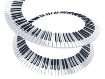 keys pianospiral Arkivbilder