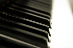 keys pianot royaltyfri foto