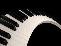 keys pianot Vektor Illustrationer