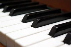 keys pianot Royaltyfri Foto