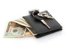 keys plånboken Arkivbild