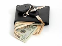 keys plånboken arkivfoton