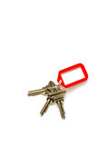 Keys with plastic tag Royalty Free Stock Image