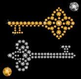 Keys of precious stones Royalty Free Stock Image