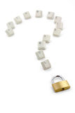 Keys and  question mark Stock Photos