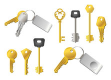 Keys - realistic modern vector set of objects Royalty Free Stock Photos