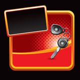 Keys on red banner Stock Photo