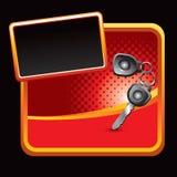 Keys on red banner Stock Photo