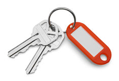 Keys and Red Key Chain Stock Photos