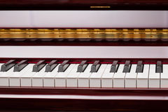 Keys of red piano Royalty Free Stock Image