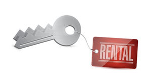 Keys for rental Concept Illustration design Royalty Free Stock Photography