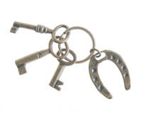 Keys with rustic lucky Stock Image