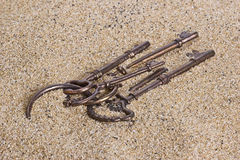 Keys in the Sand Stock Images