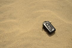 Keys in sand Royalty Free Stock Photography