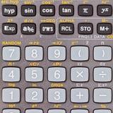 Keys of scientific calculator Royalty Free Stock Image