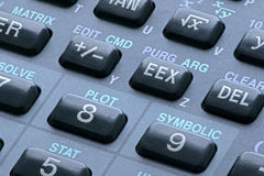 Keys on scientific calculator Royalty Free Stock Photos