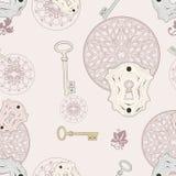 Keys seamless pattern Stock Photos
