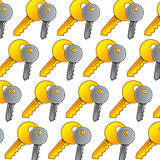 Keys seamless Pattern Stock Photography