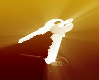 Keys security access Royalty Free Stock Photography