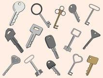 Keys set vector illustration Stock Photos