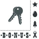 Keys sign icon. Unlock tool button Royalty Free Stock Image