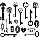 Keys Silhouette Royalty Free Stock Images
