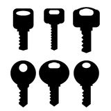 Keys Silhouettes Icons Stock Images