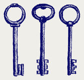 Keys sketch. Doodle style. Vector Royalty Free Stock Image