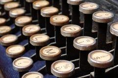 keys skrivmaskinen Royaltyfri Fotografi